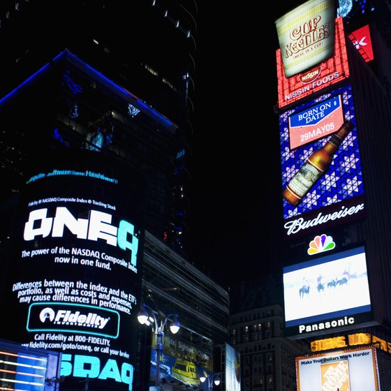 NYC's Times Square is particularly popular during New Year's Eve.