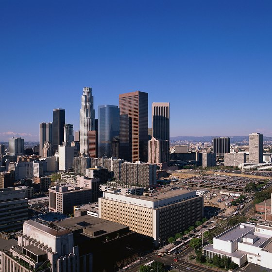 Koreatown lies in the heart of Los Angeles' business district.