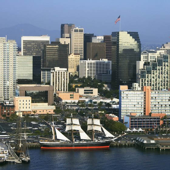 San Diego Bay is the port of call for many sea vessels.