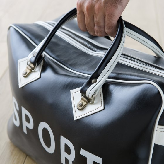 A soft-sided duffel bag is easy to stow in an overhead luggage bin.