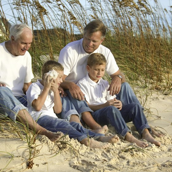 Sand, sea oats, sunshine and shells welcome visitors to North Carolina beaches.
