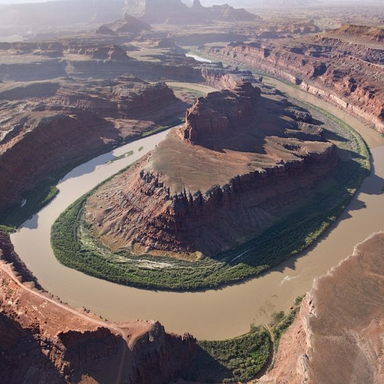 Striking canyons and valleys characterize Canyonlands National Park in Utah.