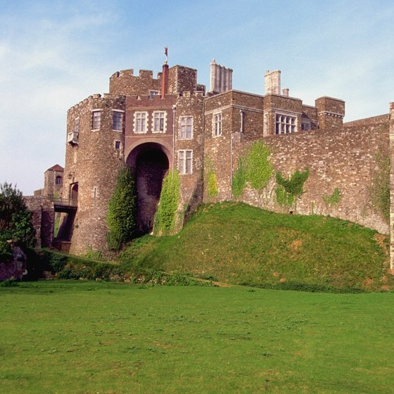 See England's Dover Castle during the sunny days of summer.