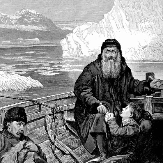 An artist's rendering shows Henry Hudson and his crew.