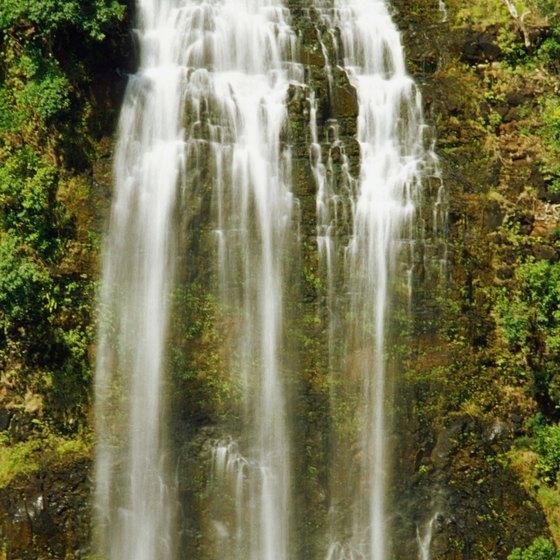 Opeaka A Falls Kauai Hawaii