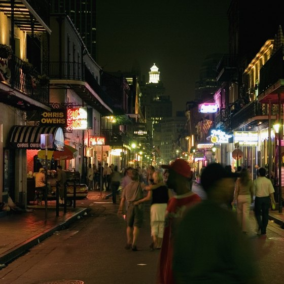 Cultures mix and mingle in New Orleans' French Quarter.