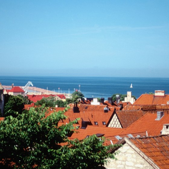 A shore excursion option in Visby, Sweden, is a cycling tour of the town.