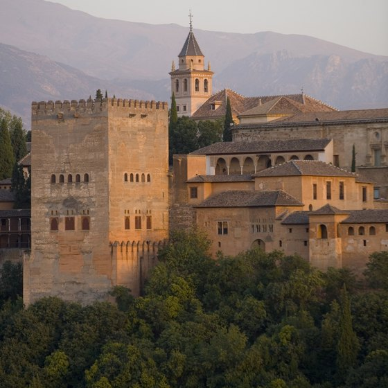 Many walking tours in southern Spain include a day in Granada, home of the Alhambra monument.