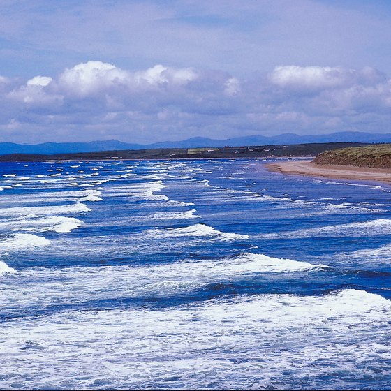 The beach at Bundoran draws visitors from across Ireland.