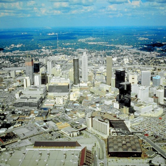 Metropolitan Atlanta includes several suburban neighborhoods.