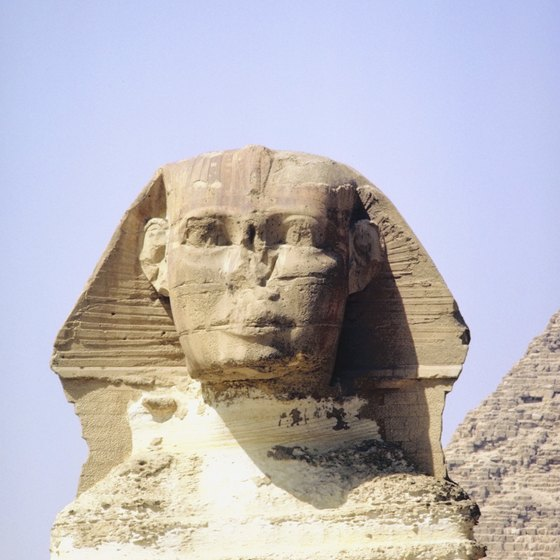 Many tours of Egypt include a visit to the Sphinx.