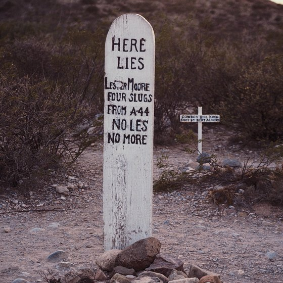 Grave sites of outlaws are one of the many attractions in Tombstone.