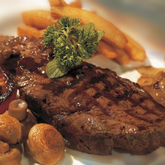Feast on a steak dinner while dining along Largo's West Bay Drive.