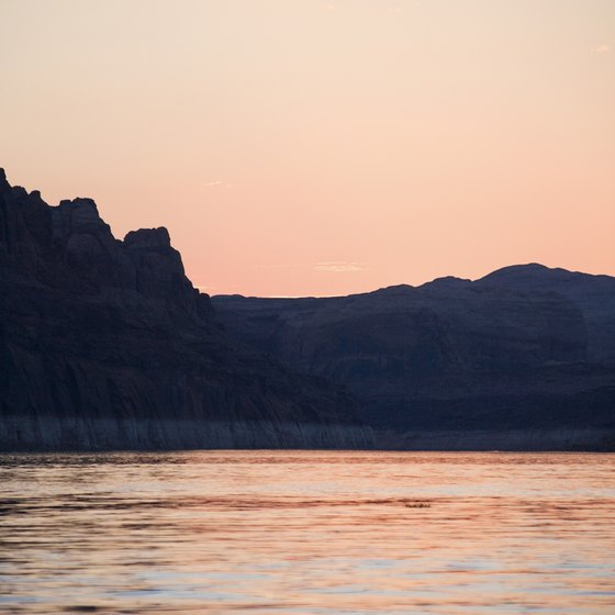 See the scenic beauty of Lake Powell's rock formations and coastline.