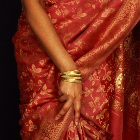A traditional sari is a lightweight, comfortable option to wear while visiting Ahmedabad.