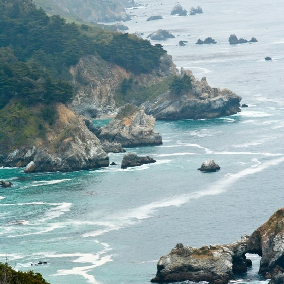 Big Sur's rugged coastline is largely undeveloped.