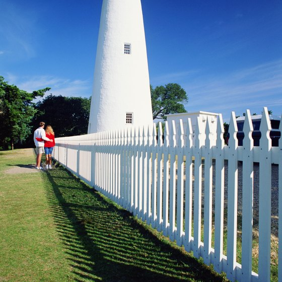 Ocracoke Lighthouse is at the southern end of the Outer Banks.