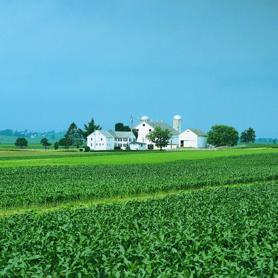 Quiet farmlands greet visitors to Lancaster, Pennsylvania.