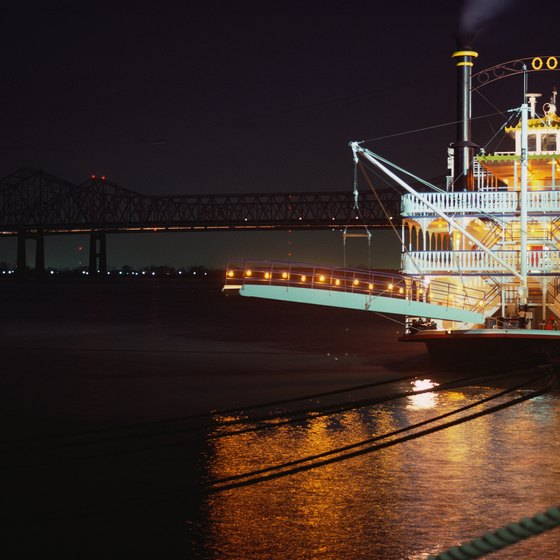 Several Mississippi River cruise companies operate from New Orleans.