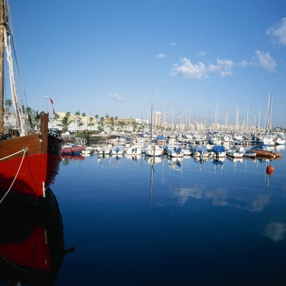 Las Palmas harbor is one of the premier sailing regatta locations in Europe.
