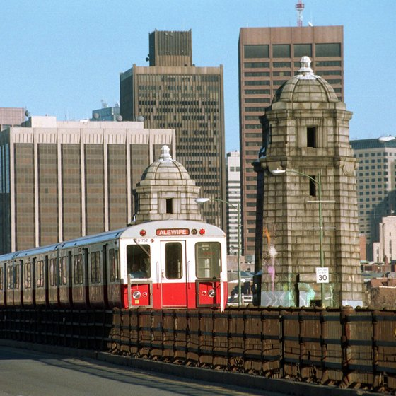 From downtown Boston, you can take the red line to cross the Charles River into Cambridge.