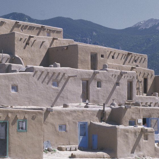 Find both ancient and inhabited pueblos in western New Mexico.