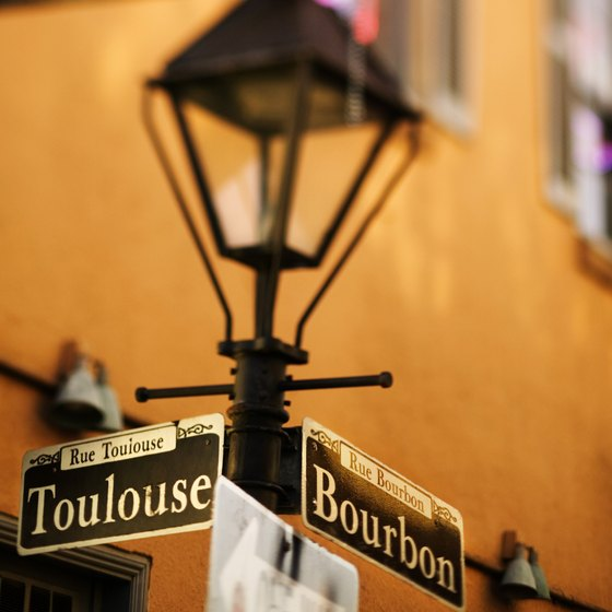 Visit Bourbon Street in the French Quarter in New Orleans.