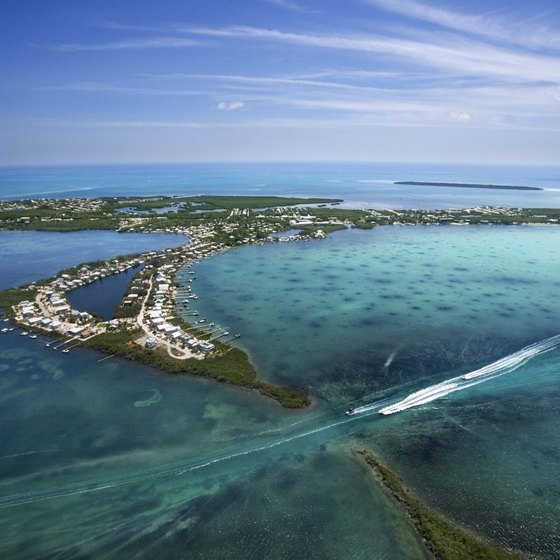 Temperatures in the Florida Keys cool down in December.