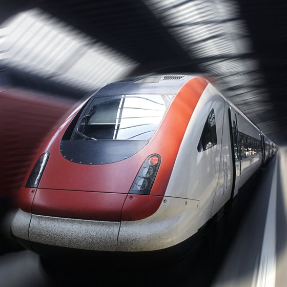 European high-speed trains are often called bullet trains.