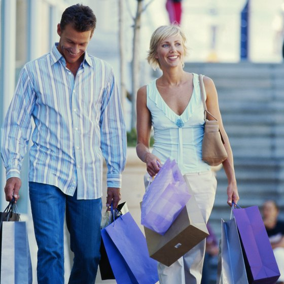 Shopping is a popular activity while vacationing in Myrtle Beach.