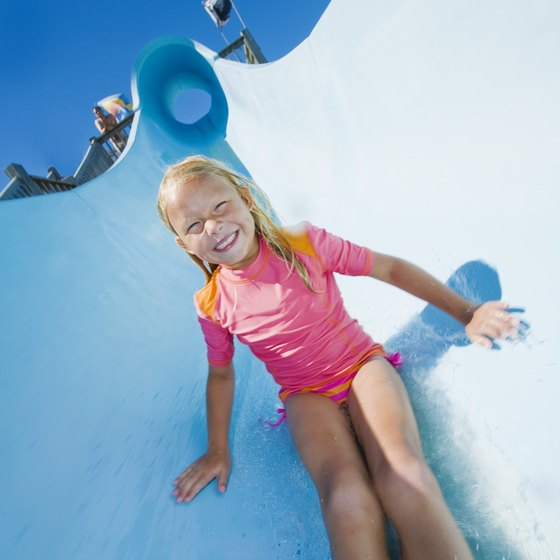 Enjoy water slides at Oshkosh's community water park.