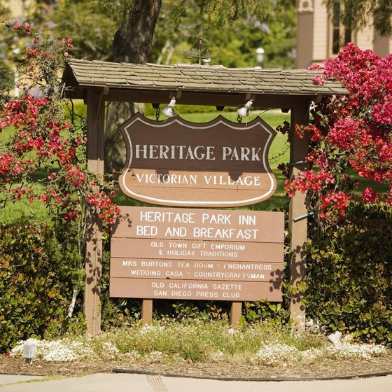 Heritage Park in Old Town San Diego celebrates the town's origins.