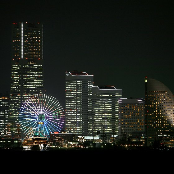 The port city of Yokohama, Japan's second-largest city, has lively nightlife.