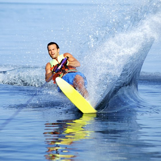 Water skiing is one of many activities visitors to Raccoon Lake can enjoy.