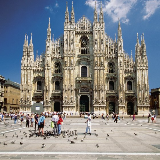 The Duomo Milano is a favored attraction for tourists to Lombardy in Italy.