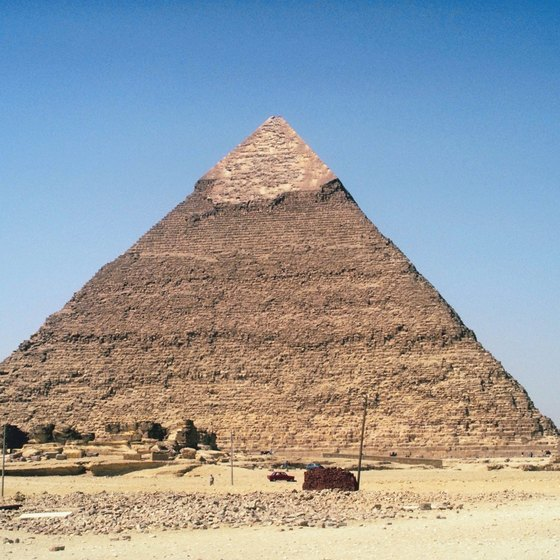 Egypt's great pyramids are surrounded by its Western Desert.