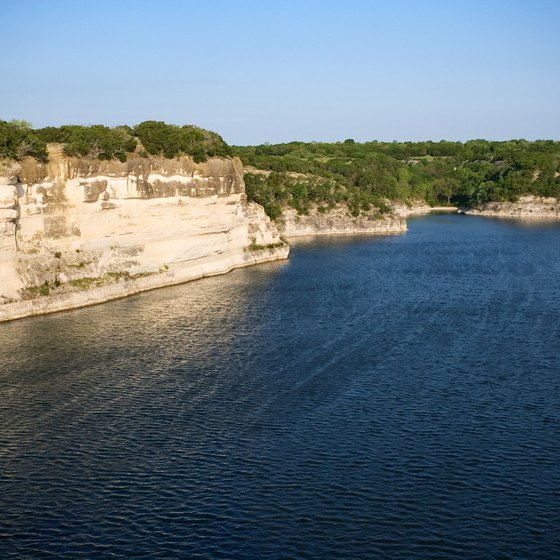 Lake Whitney is one of Texas' most scenic lakes, bordered by rugged limestone cliffs.