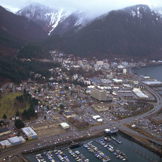 Ferries from Juneau connect to ports such as Anchorage.