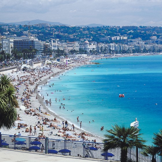 Beaches in southern France are popular vacation destinations.