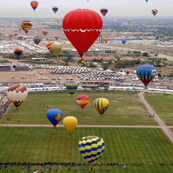 The International Balloon Fiesta launches more than 700 balloons.