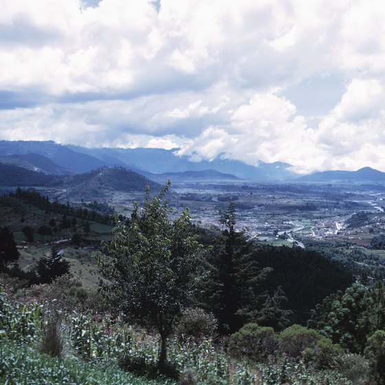 The mountains in Guatemala, where freezing temperatures occur, impact the entire country's climate.