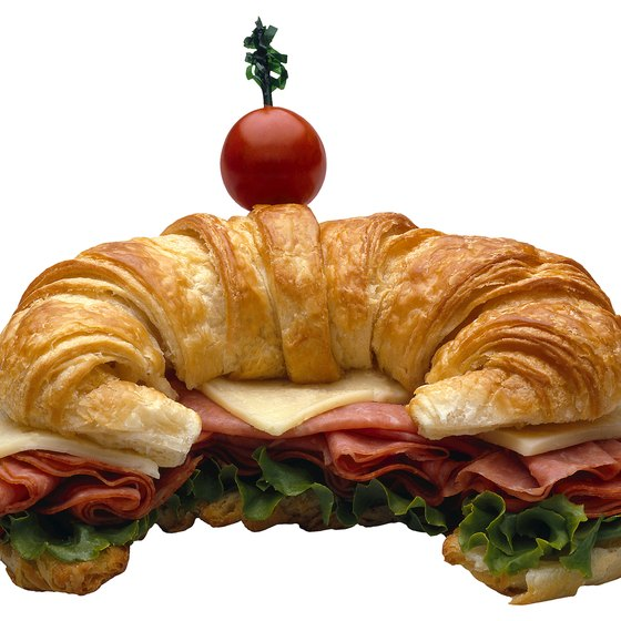 Fresh-baked croissant are available in restaurants near Montague.