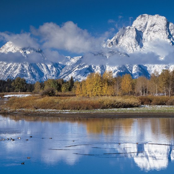 Grand Teton National Park has 13 peaks with elevations over 12,000 feet.