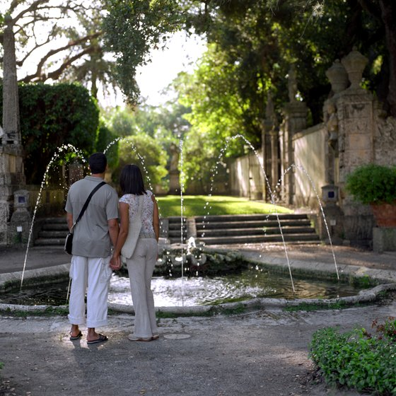 Coral Gables tree-lined streets make the perfect scene for a romantic walk.