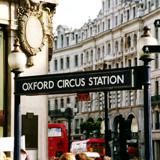 Oxford Circus is a five-minute walk from Portland Place.
