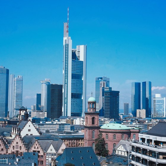 Frankfurt, Germany, is one of Europe's financial capitals.
