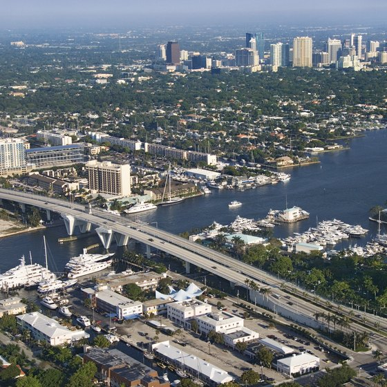 An aerial view of the Intracoastal Waterway in Fort Lauderdale.
