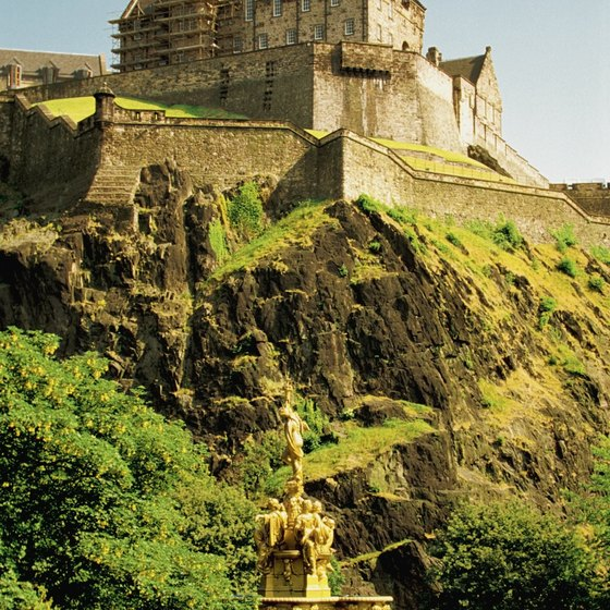 Edinburgh Castle is perched on an extinct volcano overlooking the city of Edinburgh, near Glasgow.