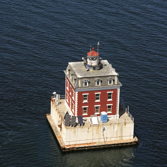 Some Connecticut hotels provide views of lighthouses.