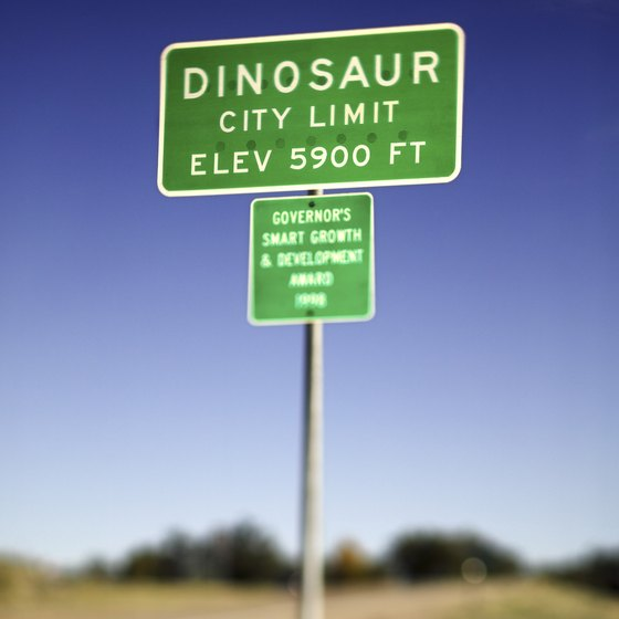 Dinosaur, Colorado, is a quit little town in northwestern Colorado.